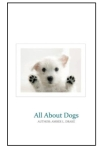 all about dogs book cover